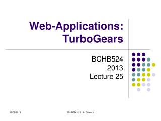 Web-Applications: TurboGears