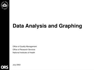 Data Analysis and Graphing
