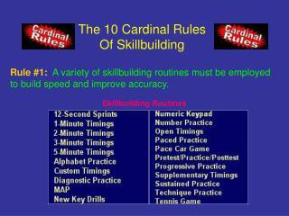 The 10 Cardinal Rules Of Skillbuilding