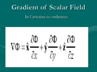 Gradient of Scalar Field