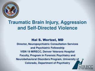 Traumatic Brain Injury, Aggression and Self-Directed Violence