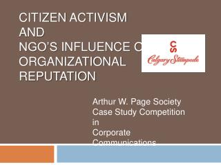 citizen  activism  and  NGO's influence on organizational  reputation