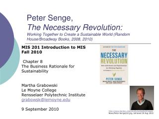 MIS 201 Introduction to MIS Fall 2010  Chapter 8 The Business Rationale for Sustainability