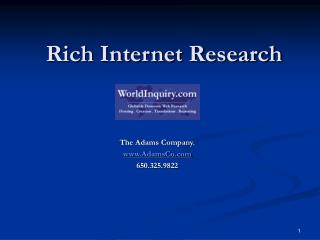 Rich Internet Research
