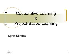 Cooperative Learning & Project-Based Learning