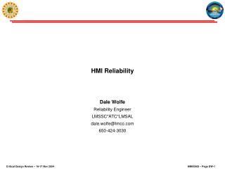 HMI Reliability