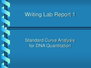Writing Lab Report 1
