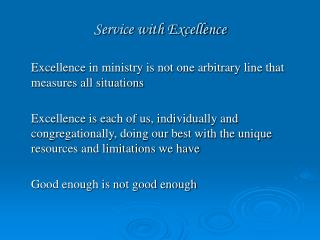 Service with Excellence