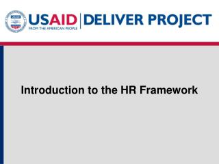 Introduction to the HR Framework