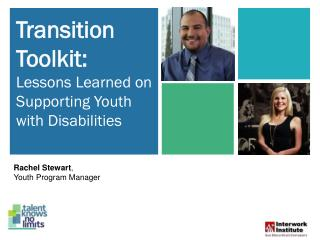Transition Toolkit: Lessons Learned on Supporting Youth with Disabilities