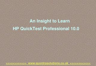 An insight to learn hp quick test professional by quontra
