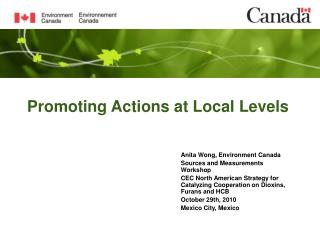 Promoting Actions at Local Levels