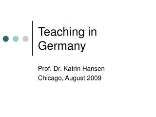 Teaching in Germany