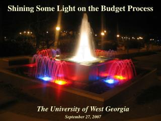 Shining Some Light on the Budget Process