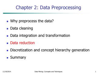 Chapter 2: Data Preprocessing