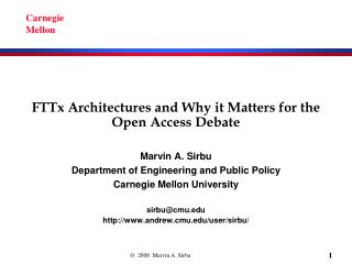 FTTx Architectures and Why it Matters for the Open Access Debate