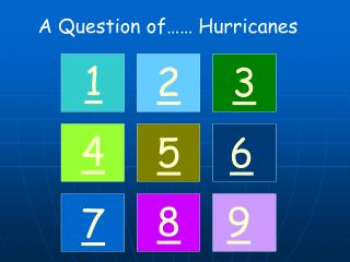 A Question of…… Hurricanes
