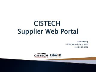 CISTECH  Supplier Web Portal