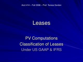 Leases