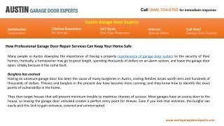 Austin Garage Door Experts