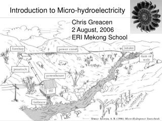 Introduction to Micro-hydroelectricity