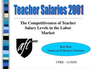 Teacher Salaries 2001