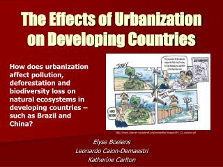 The Effects of Urbanization on Developing Countries