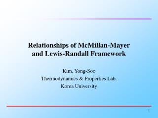 Relationships of McMillan-Mayer and Lewis-Randall Framework