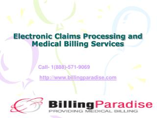 Electronic Claims Processing and Medical Billing Services