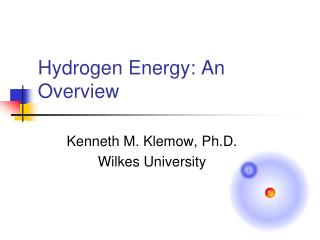 Hydrogen Energy: An Overview