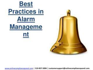 Best Practices in Alarm Management