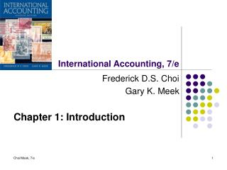 International Accounting, 7/e