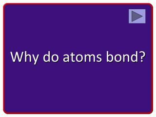 Why do atoms bond?