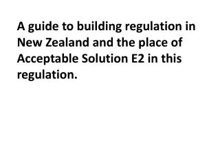 A Compliance Document is for use in establishing compliance with the New Zealand Building Code