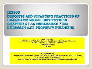 COMPILED BY HAMDAN HJ IDRIS, BSc Econs, MBA (Islamic Banking & Finance)