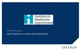 Best Practices for a Great Event Experience
