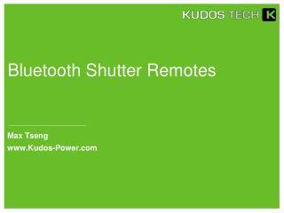 Bluetooth Shutter Remotes