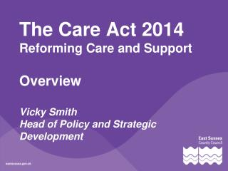 A brief history of care and support law