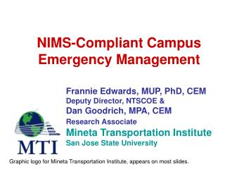 NIMS-Compliant Campus Emergency Management