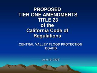 CENTRAL VALLEY FLOOD PROTECTION  BOARD June 19,  2008