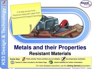 Metals and their Properties Resistant Materials