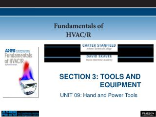 SECTION 3: TOOLS AND 		     EQUIPMENT