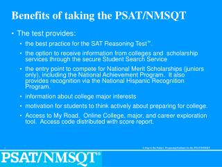 Benefits of taking the PSAT/NMSQT
