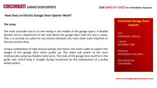 How Does an Electric Garage Door Opener Work?