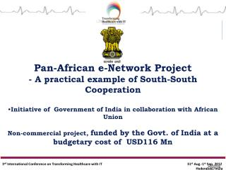 Pan-African e-Network Project - A practical example of South-South Cooperation