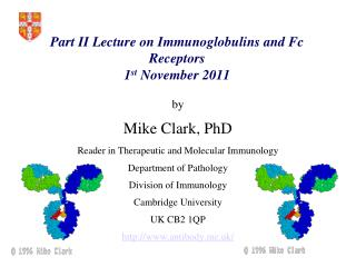 Part II Lecture on Immunoglobulins and Fc Receptors 1 st  November 2011