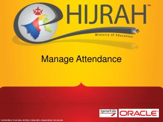 Manage  Attendance