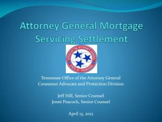 Attorney General Mortgage Servicing Settlement