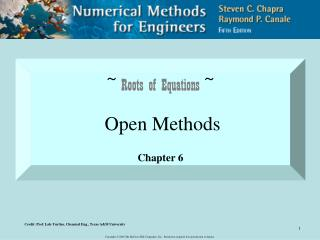 ~  Roots of Equations  ~ Open Methods Chapter 6
