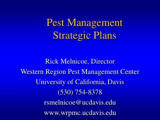 Pest Management Strategic Plans